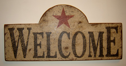 WS117 Welcome Plaque with Star-