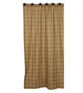WT117 Burlap Check Shower Curtain-