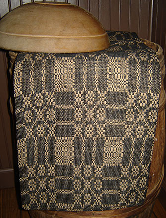 WV203 Bayberry Weave Black & Tan Throw-